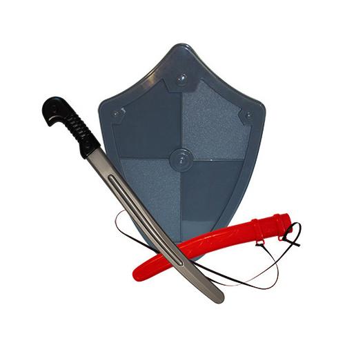 Набор Воин (сабля + щит) пластмас.