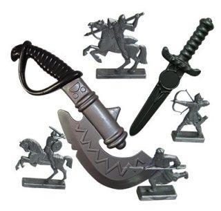 Набор Секира + кинжал + фигурки воинов