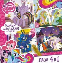 Пазл 9-16-25-36 Origami 02105 4в1 My Little Pony