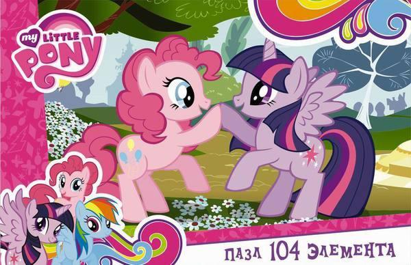 Пазл 104 Оrigami 02092 My Little Pony. Пинки Пай и Сумеречная Искорка
