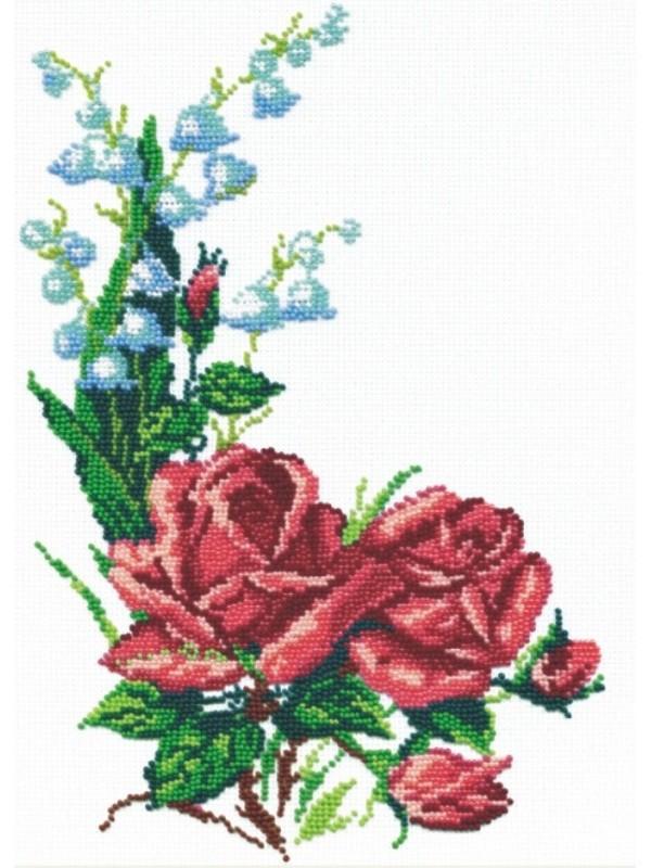 Вышивка бисером 22х31 Розы