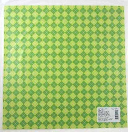 Бумага для скрапбукинга 30*30см Клеточка-3 лист
