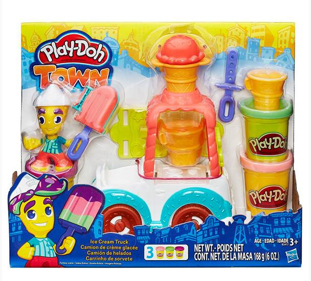 Творч Play-Doh Грузовичок с мороженым + пластилин