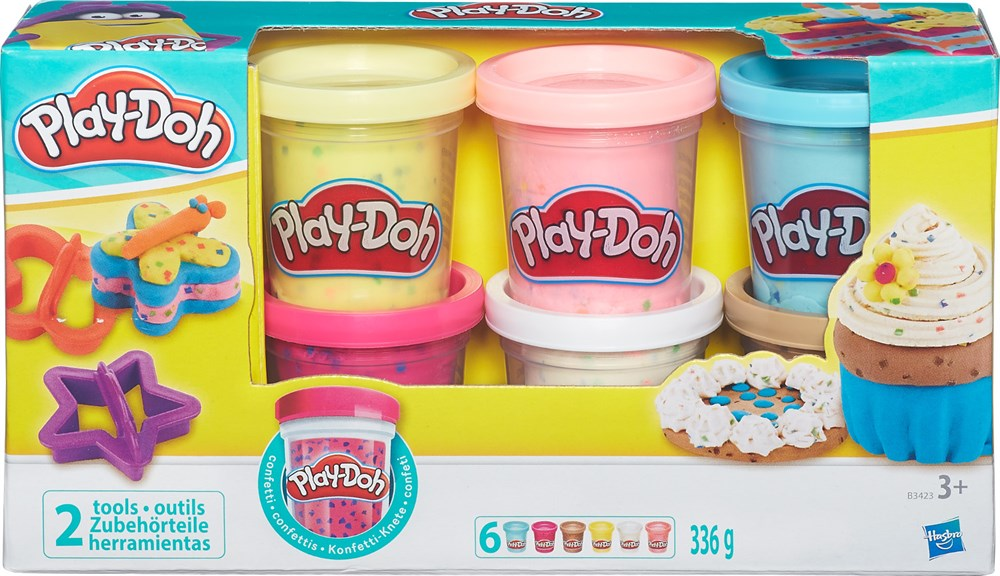 Творч Play-Doh Набор из 6 баночек с конфетти МАХ СКИДКА 15% РОЗНИЦА