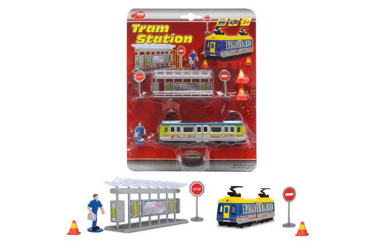 набор Трамвайная остановка 16см