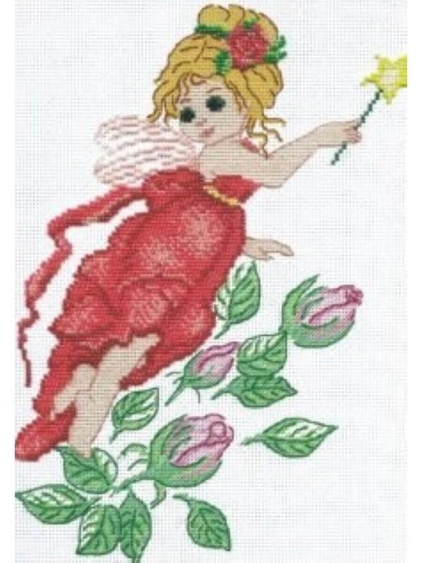 Вышивка бисером 20х30 Феечка и розы