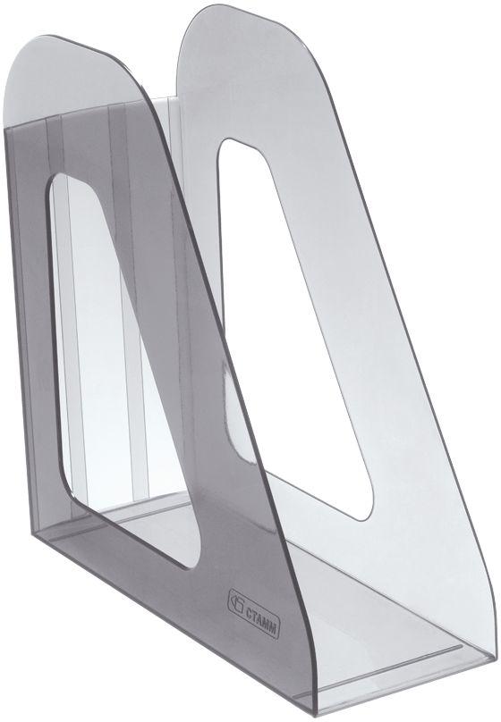 Лоток верт 1отд Фаворит прозрач тониров серый 9см широкий