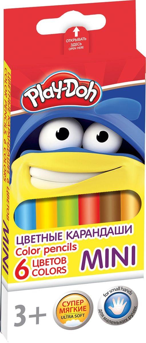 Карандаши цветные 6 цв Play Doh треугольные мини