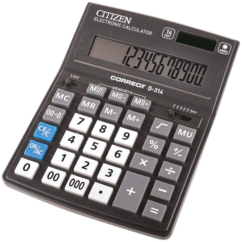 Калькулятор 14 разр. CITIZEN Correct черный