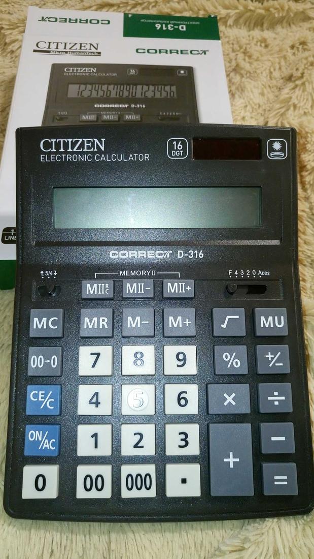 Калькулятор 16 разр. CITIZEN Correct черный