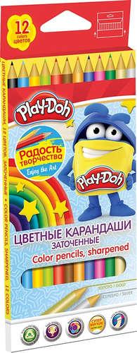 Карандаши цветные 12 цв Play Doh треугольные к/к
