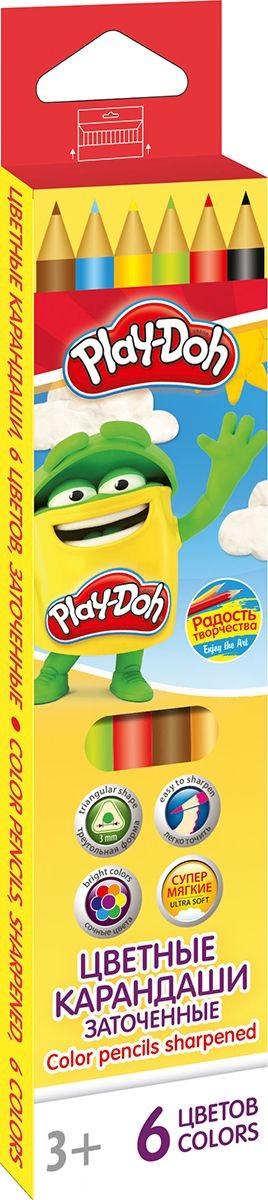 Карандаши цветные 6 цв  Play Doh треугольные к/к