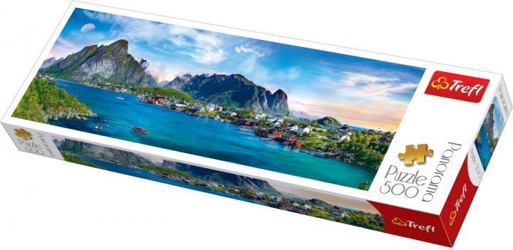 Пазл 500 Trefl 29500 Panorama Лофотенские острова Норвегия/ Фотоиллюзии