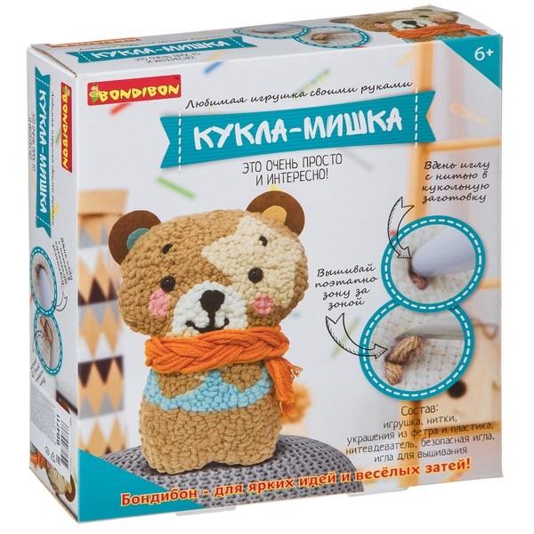 Творч Игрушка своими руками Кукла-мишка