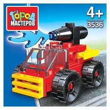 Конструктор Пожарная служба: машина, 21 дет. пласт