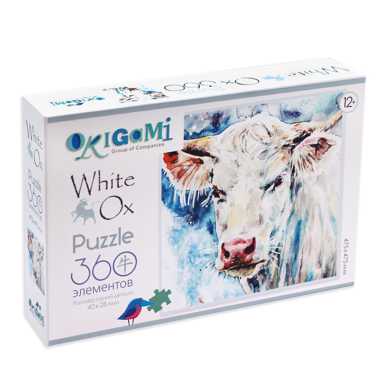 Пазл 360 Astrel 05421 Год Быка 2021 Портрет белого быка
