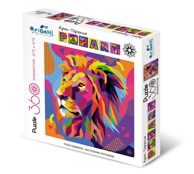 Пазл 360 Origami 03050 Арт-терапия Поп-арт. Лев