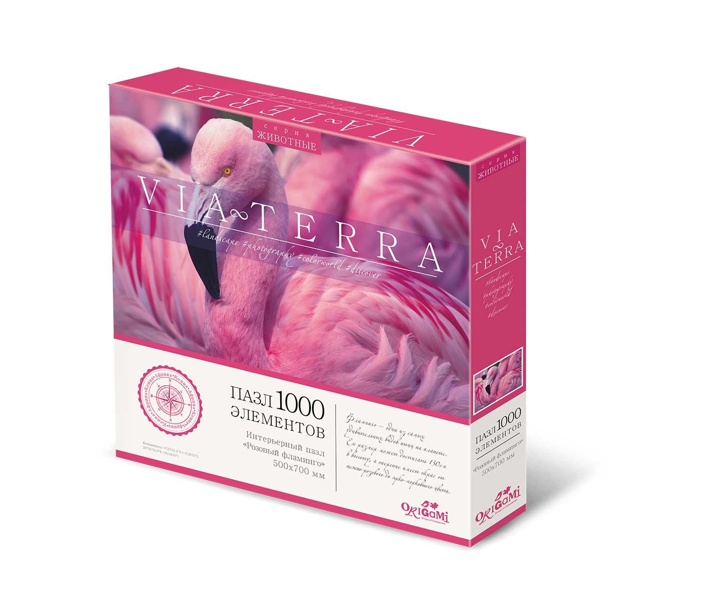 Пазл 1000 Origami 05237 Via Terra Розовый фламинго