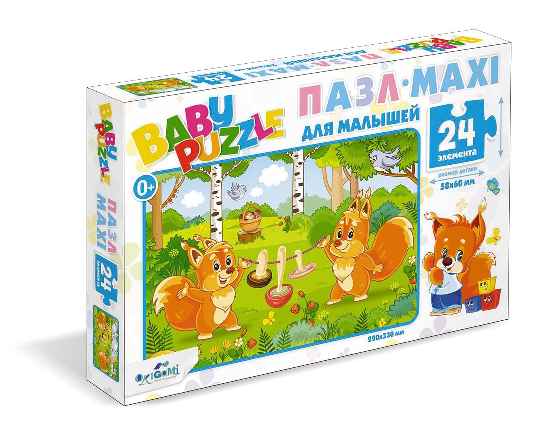 Пазл 24 Origami 05775 Белочки