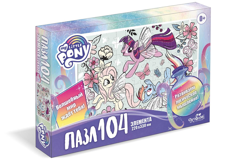 Пазл 104 Origami 05709 Пони в цветах