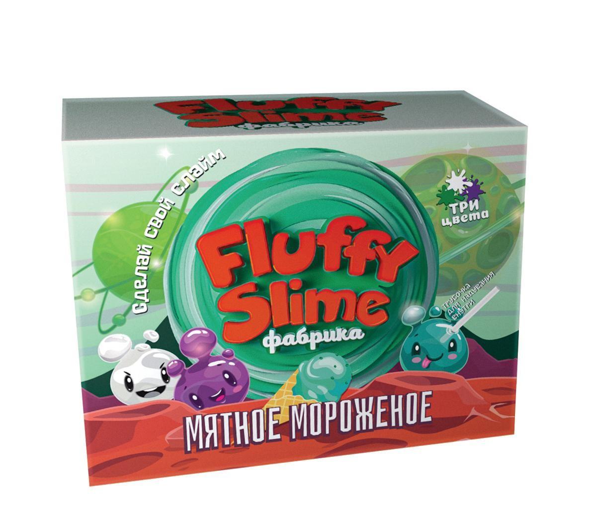 Набор Создай Флаффи Слайм Fluffy Slime Мятное мороженое