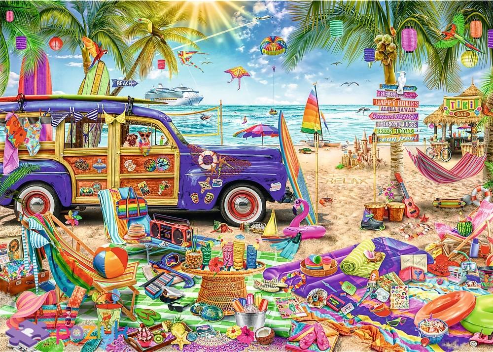 Пазл 2000 Trefl 27109 Тропические каникулы