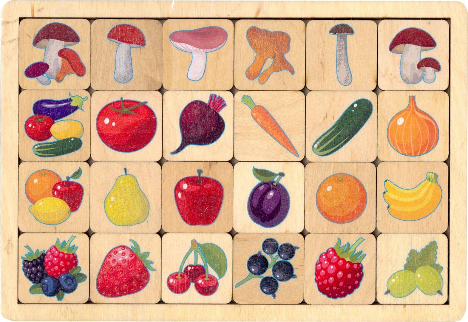 Настольная Овощи-Фрукты-Ягоды-Грибы дерев