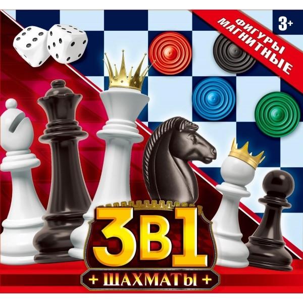 Настольная 3 в 1 Шахматы (шахматы + 2 наст.игры)