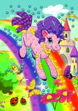 Творч Мозаика из помпонов Пони на радуге