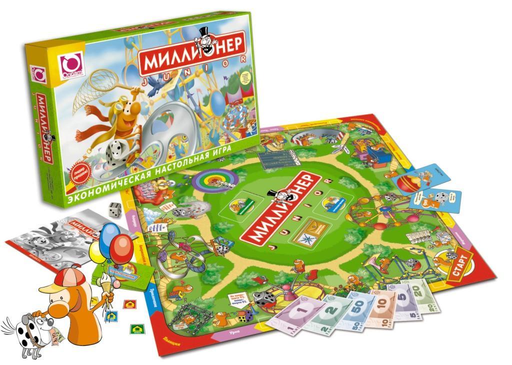 Настольная Миллионер Junior: Экономическая настольная игра