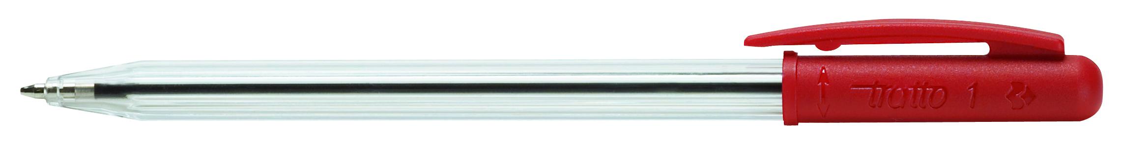 Ручка шариковая Tratto 1 красная поворот 1мм