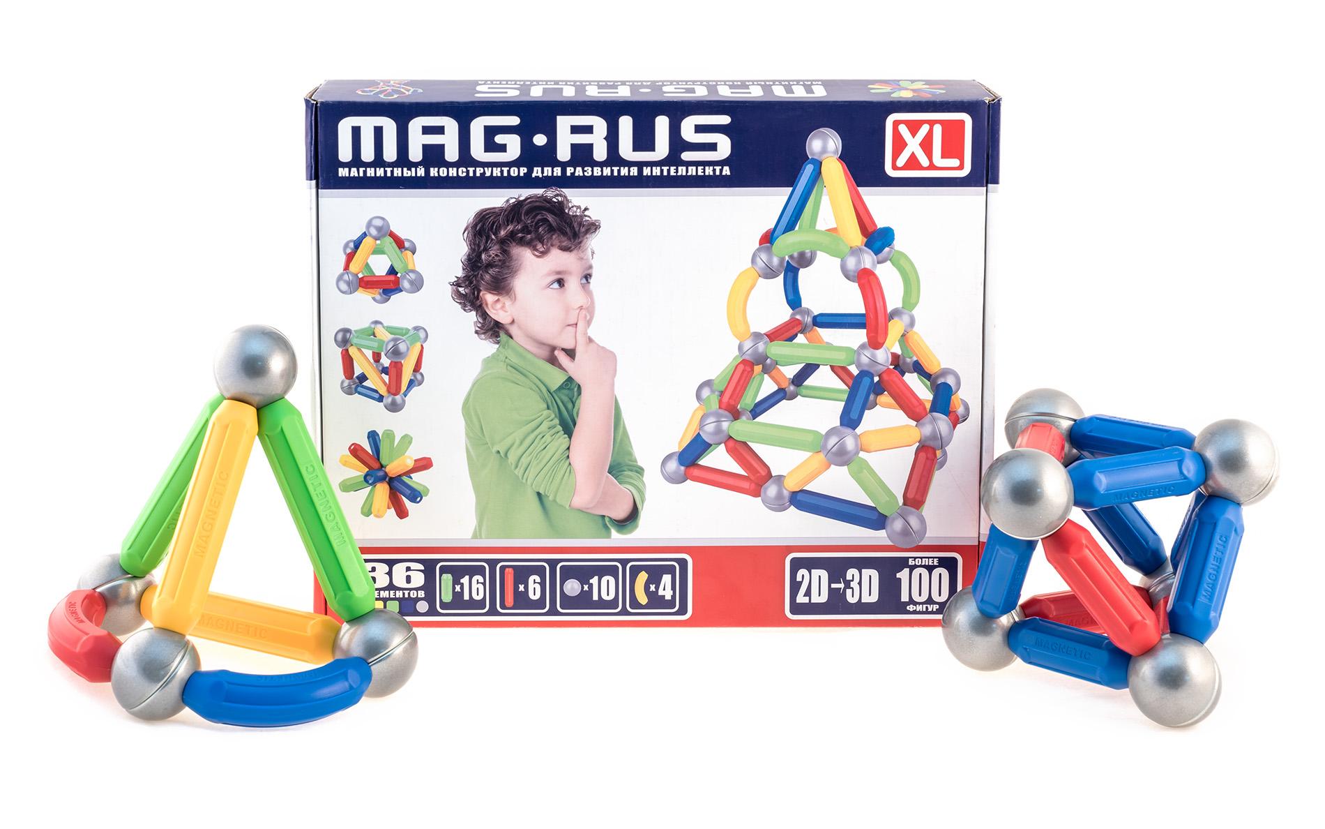 Конструктор магнитный MAG-RUS XL Молекула 36эл.