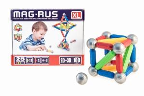 Конструктор магнитный MAG-RUS XL Большая молекула 25 эл.