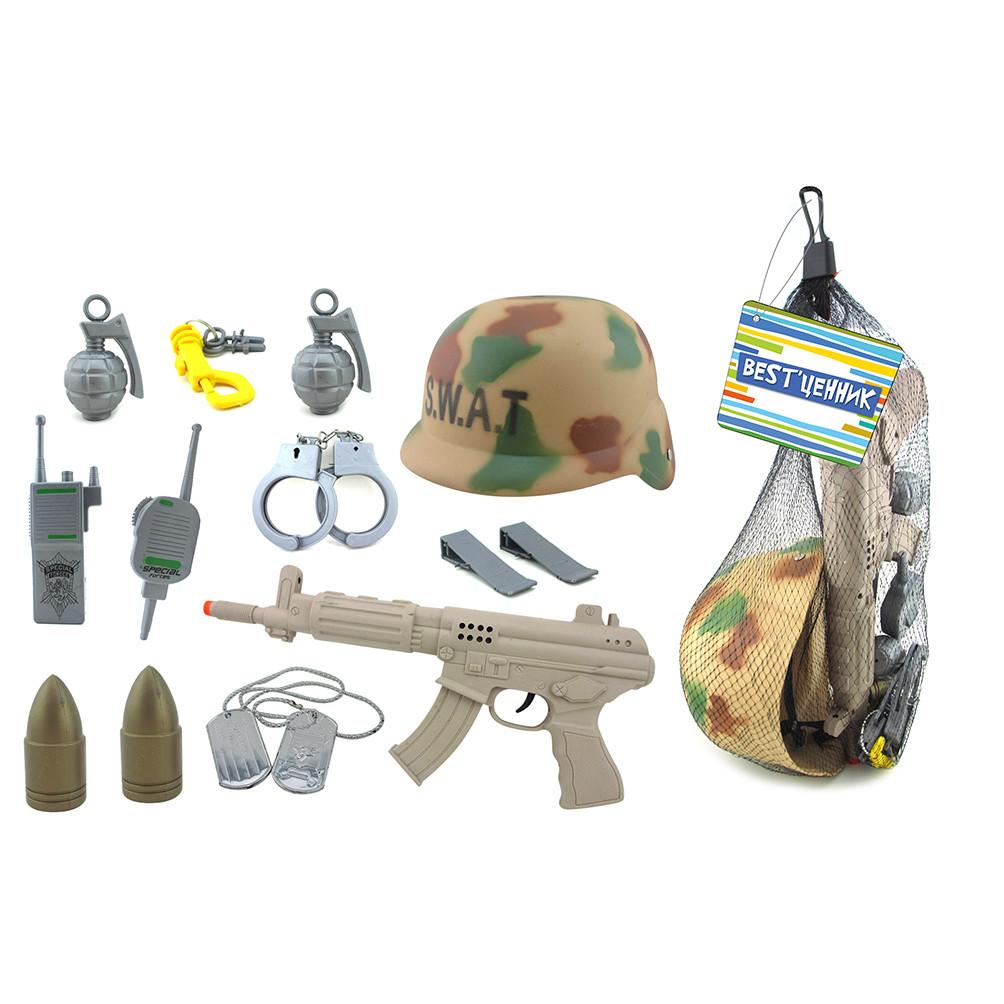 Набор Спецназ Каска и оружие коричневытые