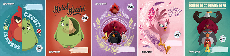 Тетрадь 24л клетка Angry Birds Movie