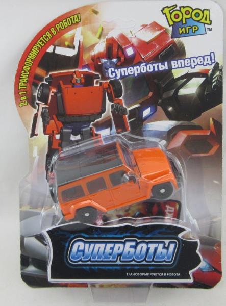 """Робот-трансформер """"Машинка Джип"""" пластмас."""
