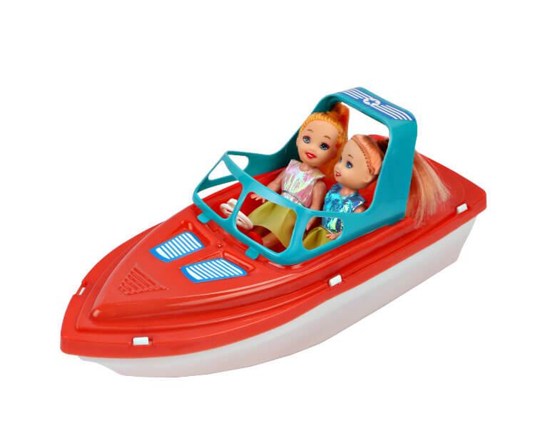 набор Куклы Морское приключение 2шт. 9см. + катер
