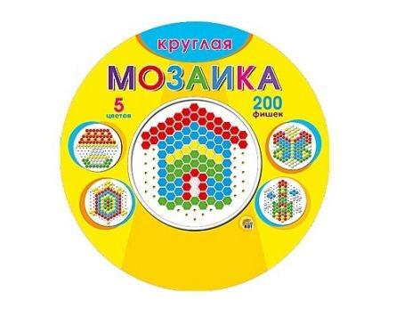 Игра Мозаика круглая 200 фиш. d=13мм