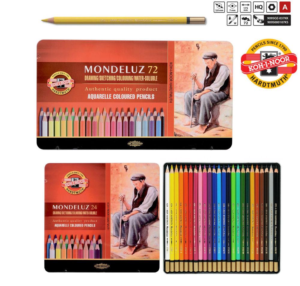 Карандаши цветные 24 цв акварел K-I-N Mondeluz мет/коробка