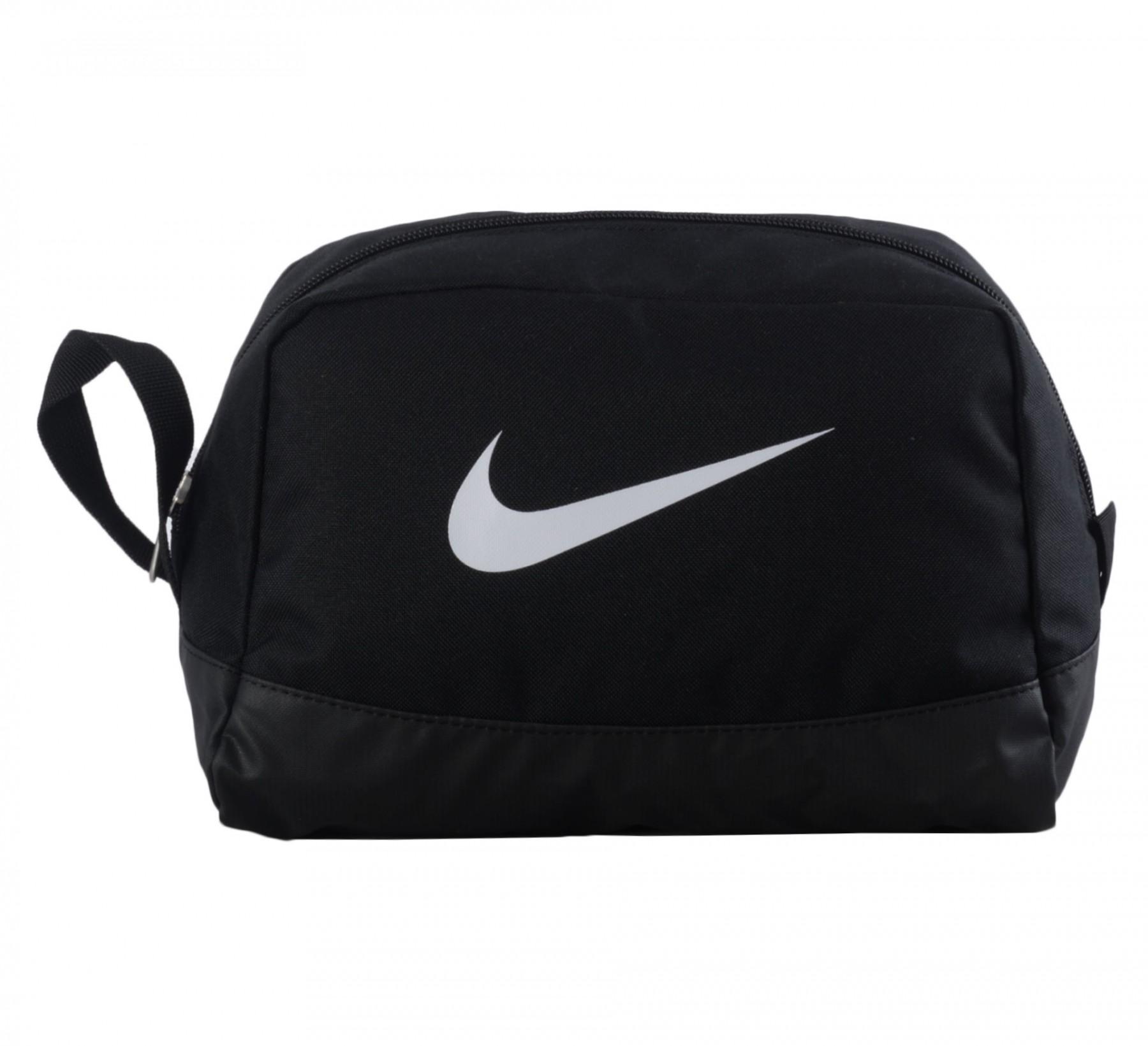 Пенал-косметичка Nike черный тканевый 2 отд