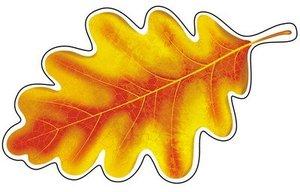 Открытка М-9287 Лист дуба желтый мал выруб