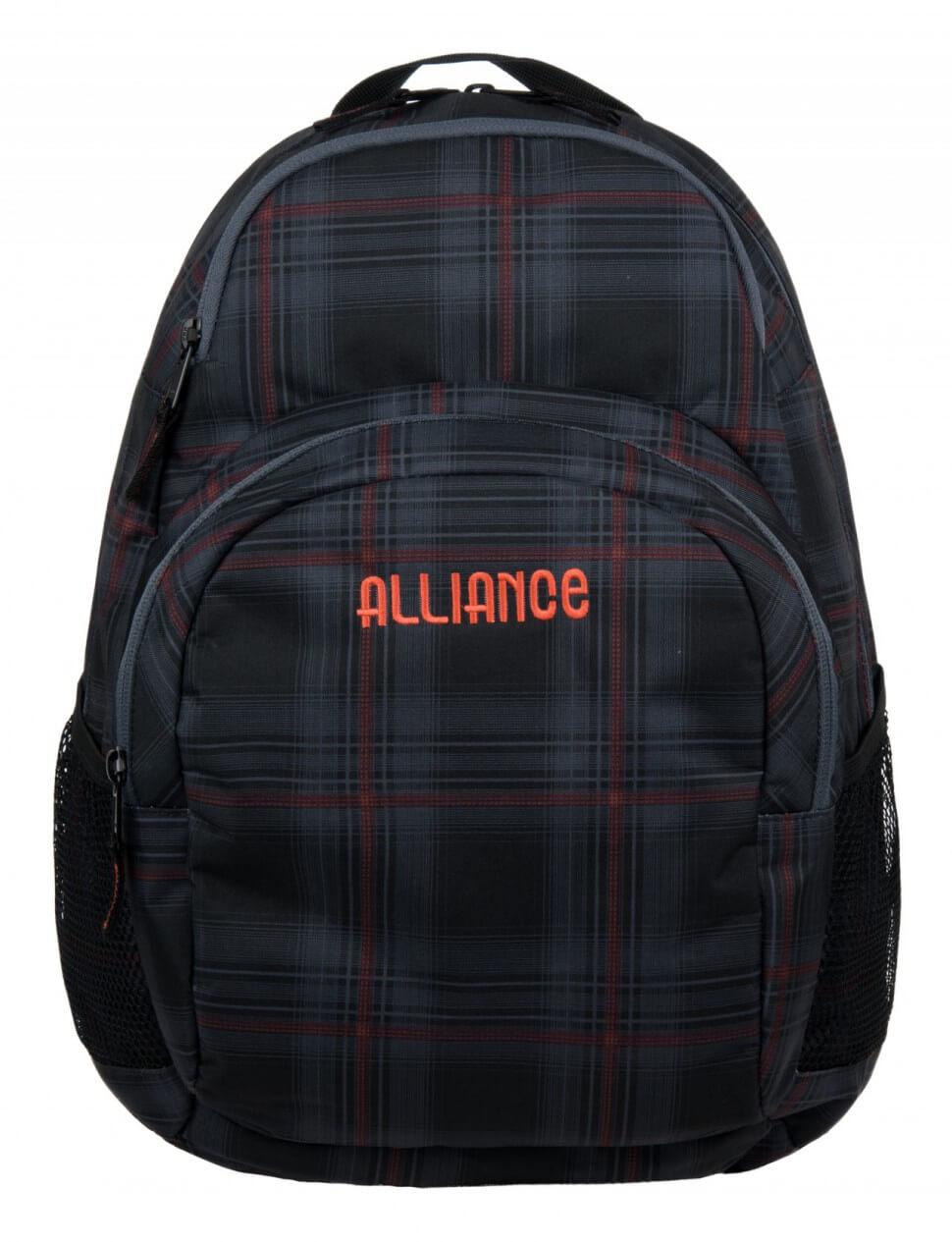 Рюкзак Alliance полоски радуга черный