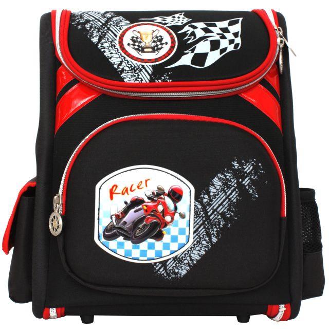 Рюкзак Alliance Racer Мотоциклист ортопедический черно-красный