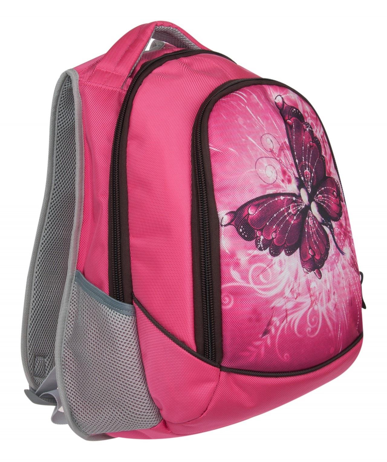 Рюкзак Alliance Бабочка полуортопедический розовый