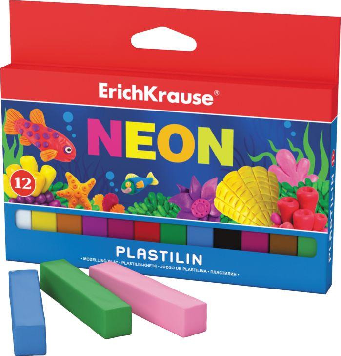 Пластилин 12 цв EK Neon 180гр