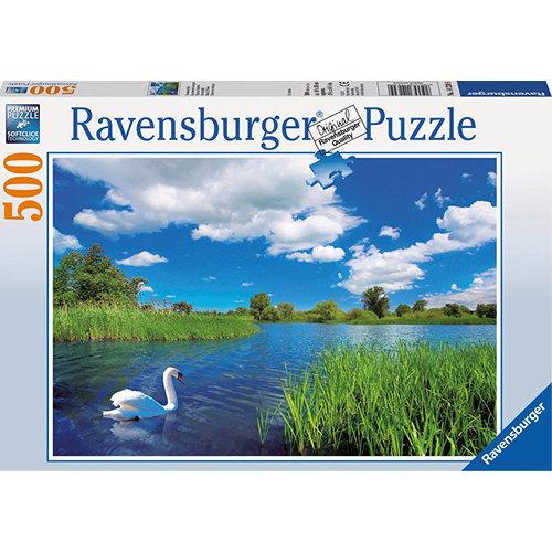 АКЦИЯ19 Пазл 500 Ravensburger 142309 Лебедь на пруду