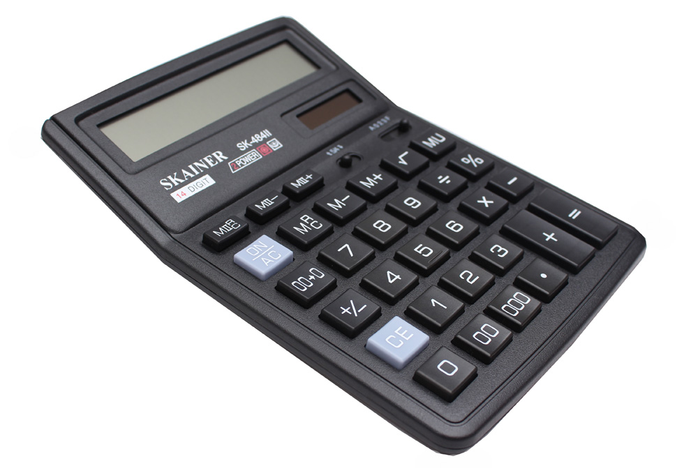 Калькулятор 12 разр. SKAINER настольный черный