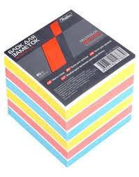 Блок д/записей 80*80*80 Hatber  3-х цв. жел, крас, голубой