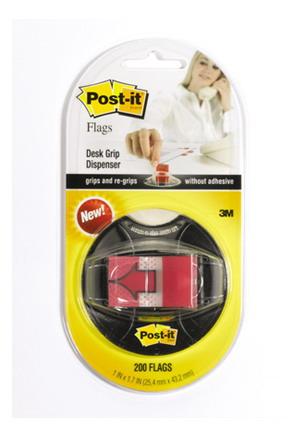 POST-IT Закладки клейкие красн на присоске 200шт. 25мм