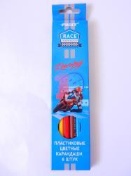 Карандаши цветные 6 цв Proff Racing Гоночный Мотоцикл к/к